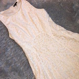 Monteau Cream Lace Dress